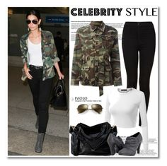 """Celebrity in PaoloShoes"" by spenderellastyle ❤ liked on Polyvore featuring Topshop, Yves Saint Laurent, Doublju and Ray-Ban"