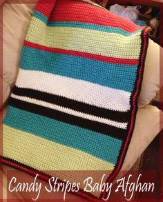 Candy Stripes Baby Blanket -