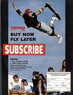 Thrasher Magazine subscribe ad - 1989