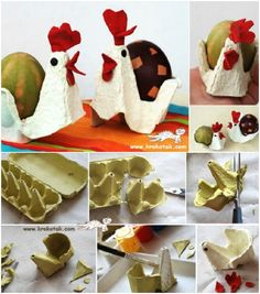 Diy Crafts for Kids Fresh Egg Carton Hens Cute for Easter Crafting. Easter Crafts For Kids, Toddler Crafts, Diy For Kids, Ester Crafts, Egg Carton Crafts, Easter Egg Dye, Diy Ostern, Spring Crafts, Egg Cartons