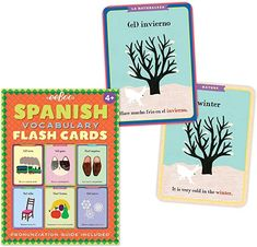 Spanish Vocabulary Flash Cards for Kids by eeBoo