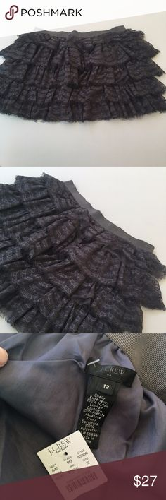 NWT J. Crew Lace Ruffle Skirt No holes or staining J. Crew Skirts Mini