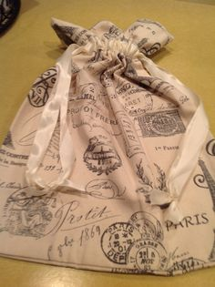French travel lingerie or shoe bag