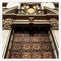 """""""We must be alarmingly enterprising, and we must be startlingly original, and do new and striking things which constitute a revolution."""" William Randolph Hearst ( the beautiful facade of the Hearst Building in San Francisco by Julia Morgan #historicpreservation #verandafirst )"""