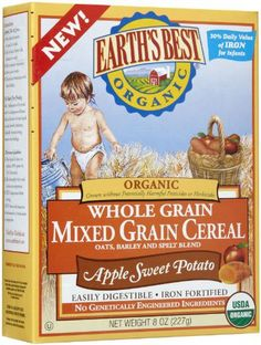 Earth's Best Baby Cereal - Mixed Grain Apple Sweet Potato - 8 oz