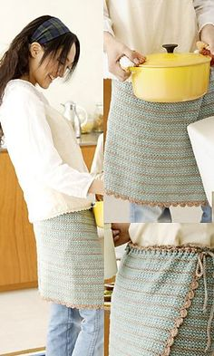 Overlap apron skirtbyPierrot (Gosyo Co., Ltd) — This pattern is available for freevia Ravelry.Both English and Japanese versions are fully charted using standard crochet symbols. Japanese version available here.