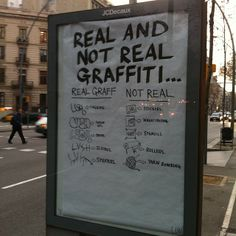 Real and non-real graffiti: Illegal sketchnotes.