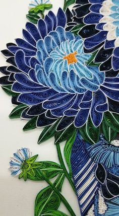 quilling, flower - almost a stained-glass effect
