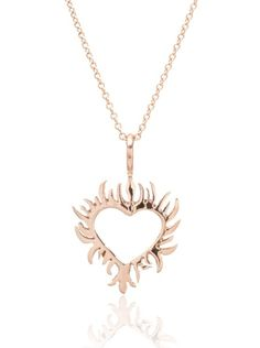 Flaming Heart Tattoo Necklace | Catherine Angiel