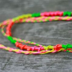 Neon Friendship Necklaces