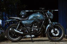 Bajaj V15 custom bike in Battleship Gray by EIMOR
