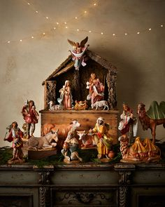 Old Fashioned Christmas Nativity Scene More Decorating Ideas