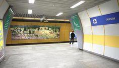 İznik Vakfı Çinileri İstanbul Metrosu Osmanbey istasyonu için tasarlanmış ve uygulanmıştır. #tiles #izniktiles #subway #metro #metrostation #Osmanbey #istanbul