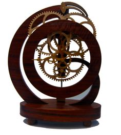 Wooden Geared Clock