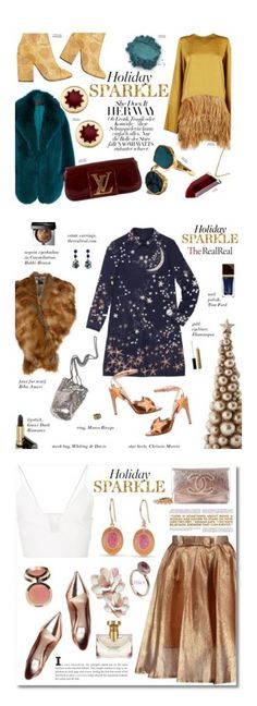 """Winners for Holiday Sparkle With The RealReal"" by polyvore ❤ liked on Polyvore featuring Dries Van Noten, Sofie D'hoore, Kenneth Jay Lane, Cushnie Et Ochs, Louis Vuitton, House of Harlow 1960, Valentino, Gucci, Bobbi Brown Cosmetics and Biba"