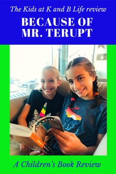 Read this Children's Book Review on Because of Mr. Terupt by Rob Buyea to see if it's something YOU'D like to read, have in your classroom library or at home and read out loud. HINT: We think it'd be excellent for a read aloud! Because Of Mr Terupt, Life Review, Book Reviews For Kids, 12 Year Old, Read Aloud, Out Loud, Love Book, Great Books, Childrens Books