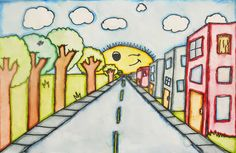 artisan des arts: One Point Perspective For Tutorial, go to: http://elementaryartfun.blogspot.ca/search/label/One%20Point%20Perspective
