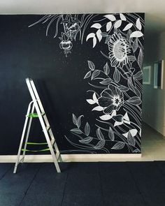Incredible Wall Painting Design Ideas That Look More Cool Room Decor Bedroom, Diy Room Decor, Wall Decor, Home Decor, Wall Drawing, Mural Wall Art, Paint Designs, Wall Design, Entryway Decor