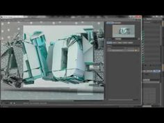 Cinema 4D ChaoS Text effect Speed art + Free Project File - YouTube