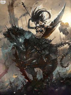 Artist: Kisun Park aka kisuny - Title: Unknown - Card: Bloodletting Lenata (Deadly Game)