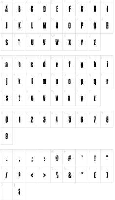 Takapiru2 font character map