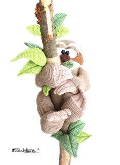 sloth crochet pattern by mala designs ®