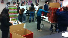 Making Pancho Claus toy collection boxes/GREATER Houston LULAC youth Council 1038