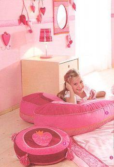 Kidsdecoshop | Haba | Zitzak Hart Pia | Prinsessenkamer | Webshop kinderkamer decoratie
