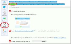 How to enable Post Chat #Survey  http://www.providesupport.com/manual/editing_the_post_chat_survey.htm