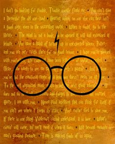 Harry Potter BEST OF Quotes modern print poster 12x18. $18.99, via Etsy.