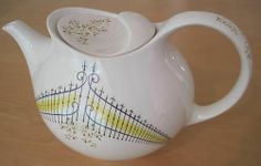 Vintage Hallcraft Eva Zeisel BUCKINGHAM Teapot Hall China Co. #HallEvaZeisel