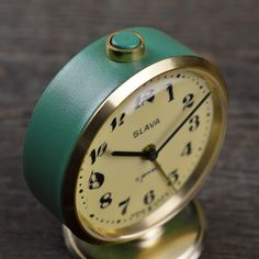 1950'S – 1960'S SLAVA MECHANICAL ALARM CLOCK Back In The Ussr, My Memory, Old Pictures, Alarm Clock, Childhood Memories, Old School, The Past, Old Things, History