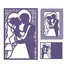 Bride and groom silhouette. Frame from flowers ornament. Wedding invitation envelope mock-up for laser cutting. - Buy this stock vector and explore similar vectors at Adobe Stock Cricut Invitations, Laser Cut Invitation, Wedding Invitation Envelopes, Kirigami, Best Wedding Websites, Bride And Groom Silhouette, Cheap Wedding Venues, Wedding Locations, Cut Image