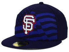 San Francisco Giants New Era MLB 2015 July 4th Stars & Stripes 59FIFTY Cap