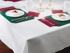 White Linen Like Paper Banquet Table  - $17.00