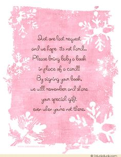 Baby shower invitation poem open house wording back of invitation open house baby shower invitation wording finished winter snowflakes shower invitation back book request filmwisefo