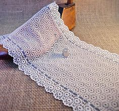 NEW Wide Cream and Blue Fine Lace Galloon M321 Haberdashery, Ethnic, Ribbon, Indian, Traditional, Boho, Cream, Lace, Style
