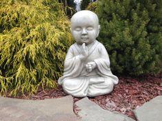 """Meditating Zen Buddist Monk Baby Buddha Garden Statue Figurine 14""""...$54.99"""