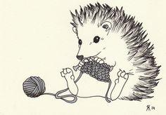Knitting hedgehog by pauli-johannes on DeviantArt