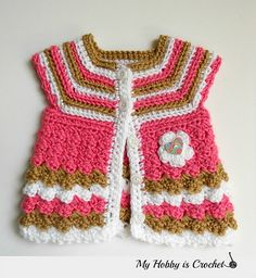 """Ravelry: Baby Cardigan """"Stripes and Bubbles"""" pattern by Kinga Erdem"""