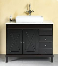 Transitional Style Vanity from Ove #Bathroom