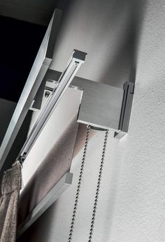 Roll Duo, roller blind with a curtain track system combined together Living Room Blinds, House Blinds, Curtains Living, Curtains And Blinds Together, Curtains With Blinds, Modern Roller Blinds, Curtain Track System, Automatic Blinds, Classic Curtains