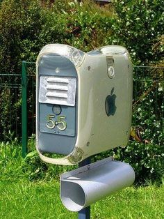 Letter box made of an old computer body - cool upcycling idea /// Briefkasten aus altem Computergehäuse - coole #Upycling-Idee