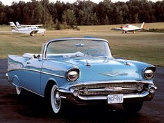 10 of the Best Convertibles in History Bid for the chance to own a 1957 Chevrolet Bel Air Hard Top at auction with Bring a Trailer, the home of the best vintage and classic cars online. Chevrolet Bel Air, 1957 Chevy Bel Air, Chevrolet Impala, Chevrolet Vega, Chevrolet 2017, Chevy Camaro, Old Vintage Cars, Old Cars, Vintage Year