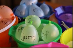 sight word water balloons - we have this on our summer fun list too!