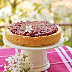 Coconut Cherry Cheesecake (in Polish with translator)
