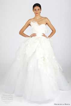 oscar de la renta wedding dresses fall winter2013 bridal strapless gown