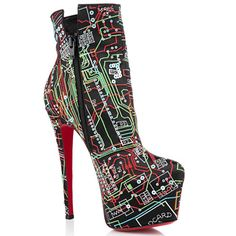 Christian Louboutin Daf Booty Geek 160mm Satin Ankle Boots Black.  www.lauratoots.com