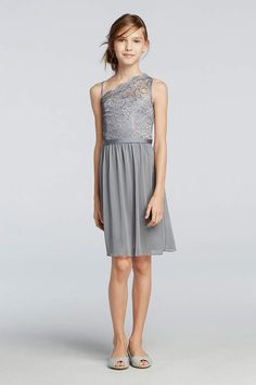 Searching for a junior bridesmaid dress for a younger member in your bridal party? View David's Bridal pretty collection of junior girls bridesmaid dresses!