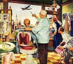 Some people are born to illustrate and it would appear James R. Bingham was such a person. An entry on Bingham in the book, Illustrating fo. Vintage Prints, Vintage Art, Vintage Soul, Barber Pictures, Le Sniper, Tattoo P, Fine Art Prints, Canvas Prints, Norman Rockwell